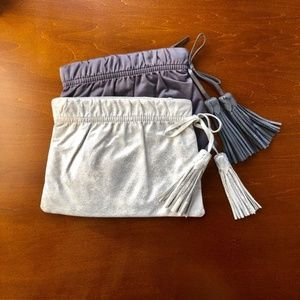 GAP tasseled clutch in gray and silver-Set of two